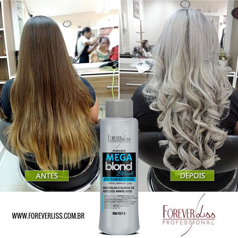 Antes e Depois Mega Blond Black