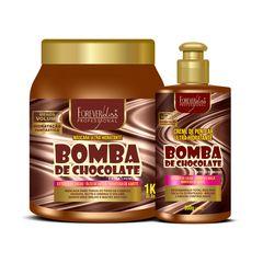 kit-bomba-de-chocolate-com-creme-e-mascara-forever-liss-1kg